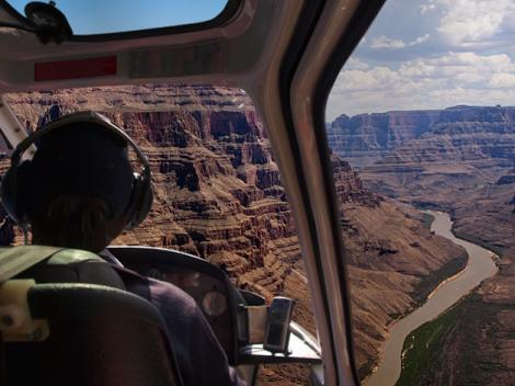 Grand Canyon West Overnight Cabin Stay by Helicopter & Ground Tour