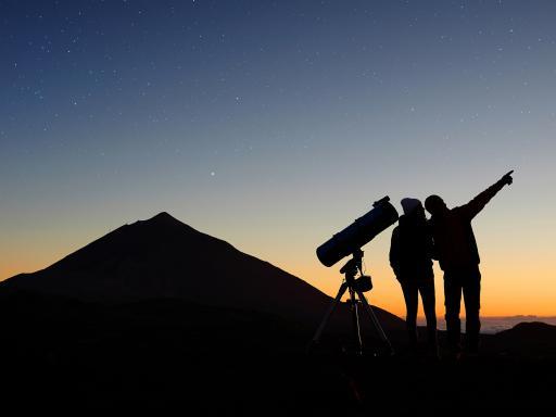 Sunset and Stars on Mount Teide