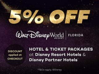 Black November 5% OFF Disney World Hotels Package