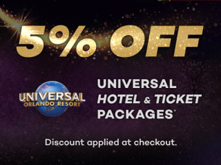 Black November 5% OFF Universal Hotels Package