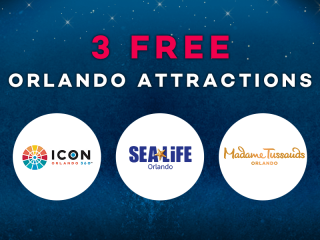 Experience 3 Iconic Orlando Attractions on Us!