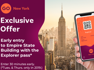 Go New York Explorer Pass Create your own itinerary with 50+ top attraction choices...