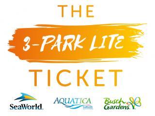 3-Park Lite - SeaWorld, Aquatica and Busch Gardens Ticket