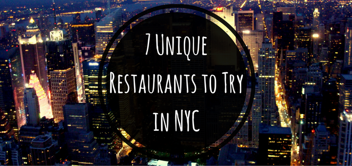 7 unique restaurants you have to try in nyc for Unique hotels nyc