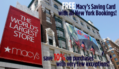 FREE Macy's Savings Card with ALL Bookings!