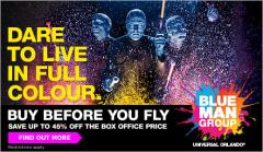 Save up to 45% off Blue Man Group Show box office prices