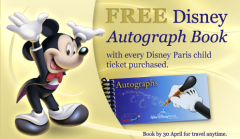 Free Disney Autograph Book with Disney Paris Tickets!