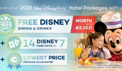 Free Disney Dining and Drinks on your 2019 Holiday