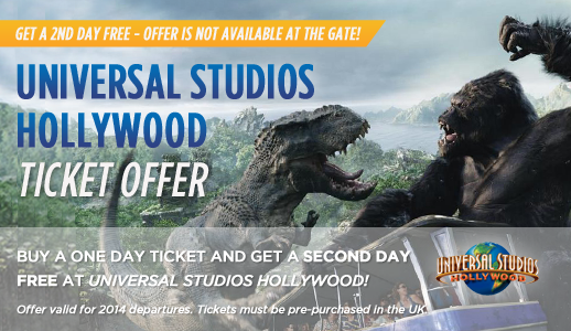 Universal Studios Hollywood Ticket Offer
