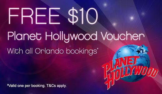 FREE Planet Hollywood Orlando $10 Voucher