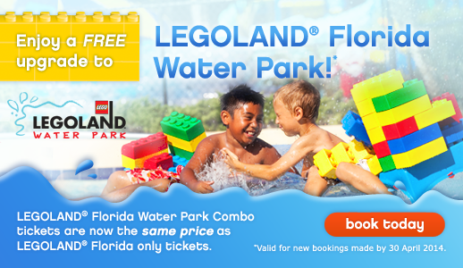 Free Upgrade to LEGOLAND®  Florida Water Park!