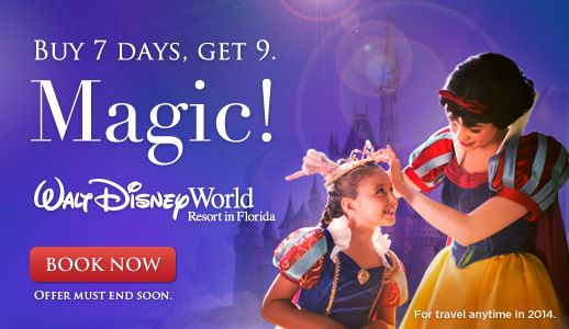 Disney Florida Ticket Offer - 9 Days for 7!