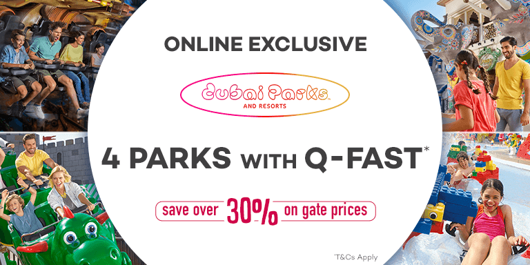 Online Exclusive 30% OFF Dubai Parks and Resorts Ticket