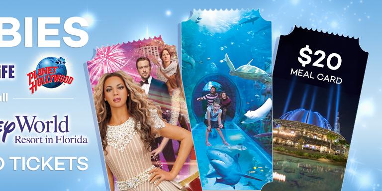 FREE Tickets for SEA LIFE Orlando Aquarium & Madame Tussauds Orlando