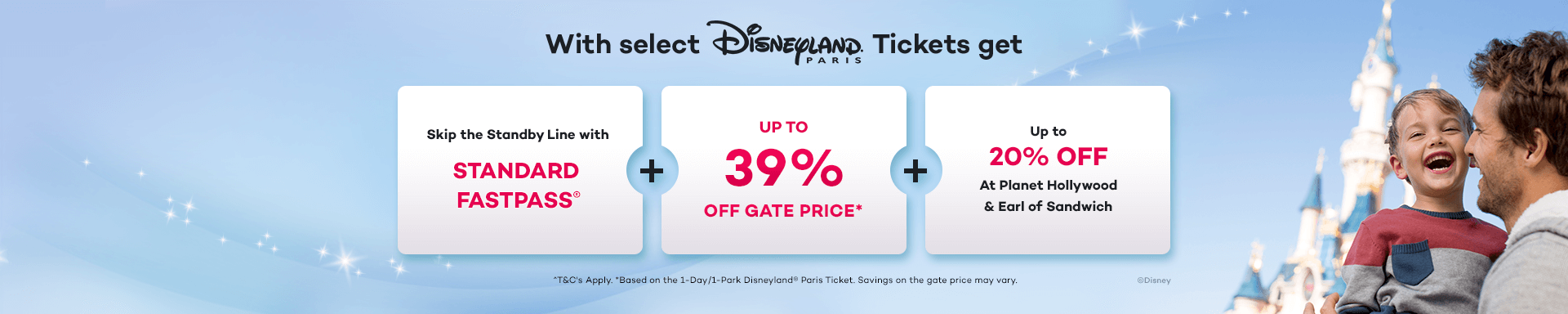 Save up to 39% on Disneyland Paris Tickets