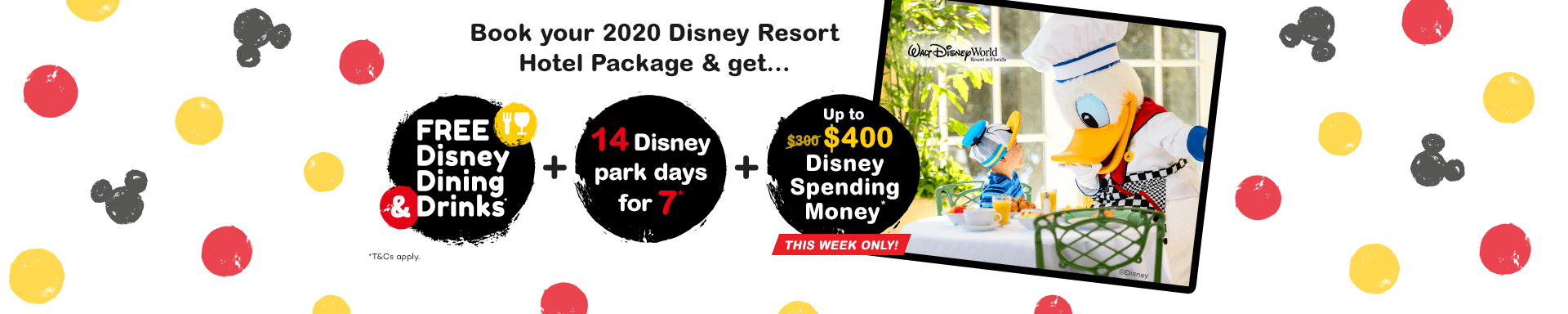 Free Disney Dining & Drinks with 2020 Walt Disney World Resort Packages